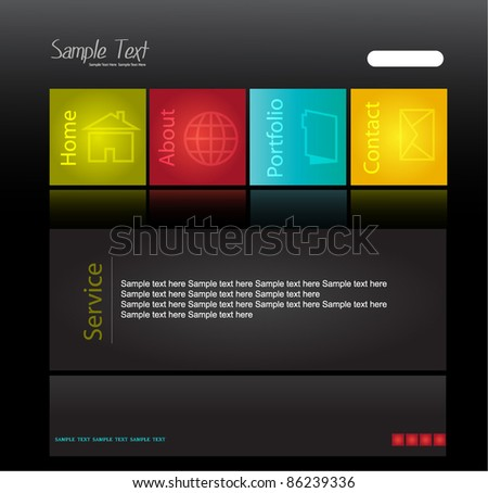 dark web design template - stock vector