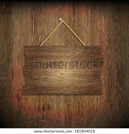 Dark Wood Texture With Wood Board, With Gradient Mesh, Vector Illustration - stock vector