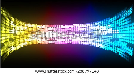 Dark yellow blue purple abstract light lamps vector background. Light Abstract Technology background for computer graphic website internet. circuit. Spark. pixel. infographics. - stock vector