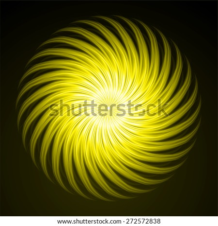 dark yellow fire color Light Abstract Technology background for computer graphic website internet and business. black background. Seamless wallpaper pattern. wave. . tattoo. logo. - stock vector