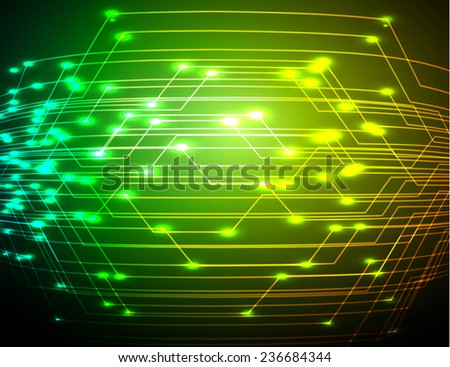 Dark yellow green Light Abstract Technology background for computer graphic website and internet.