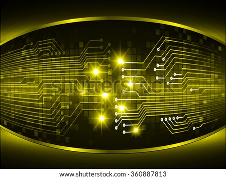 dark yellow Light Abstract Technology background for computer graphic website internet business. circuit. illustration. digital. infographics. binary code. www.Spark.zero one. eye scan virus