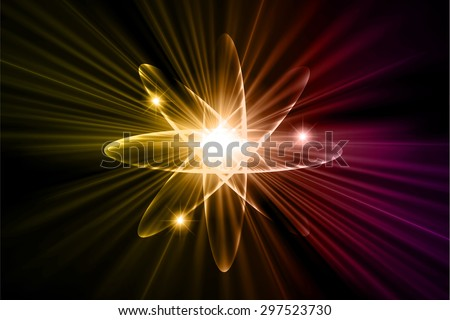 Dark yellow purple color Light Abstract Technology background for computer graphic website internet.circuit. vector illustration.Nuclear,proton,neutron,nucleus. atom. molecular.Spark ray beam aura - stock vector