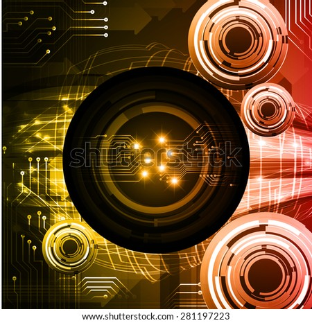Dark  yellow red color Light Abstract Technology background for computer graphic website internet. circuit. infographics. Spark