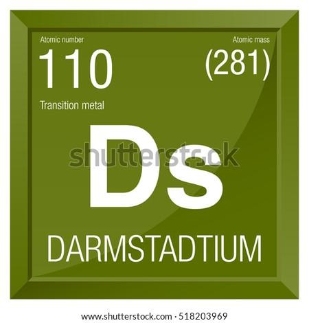 Darmstadtium symbol element number 110 periodic stock vector element number 110 of the periodic table of the elements chemistry urtaz Gallery