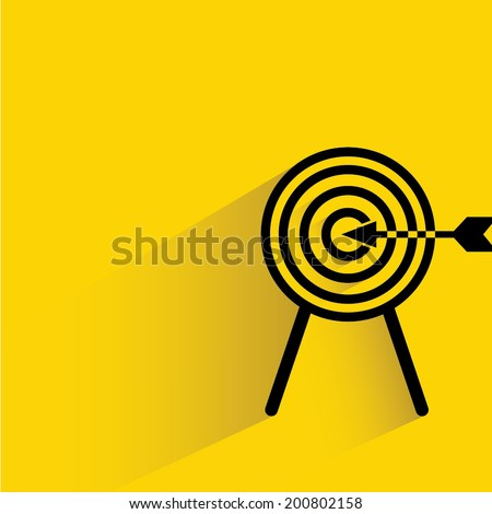 dart and arrow, target - stock vector