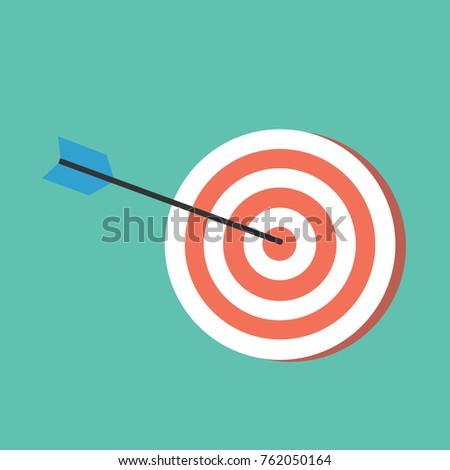 Dart board icon with green background.