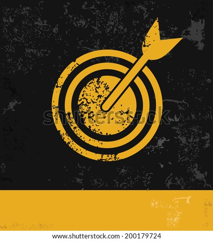 Dart symbol,grunge vector - stock vector