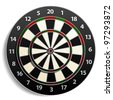 dart Target isolated on white - stock photo