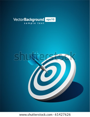Dart vector background. Eps 10 - stock vector