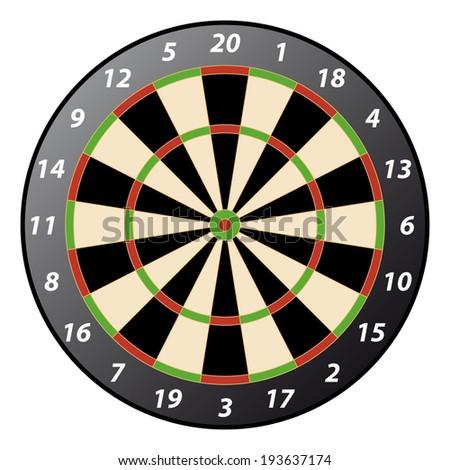 dartboard - stock vector