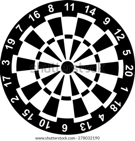 dartboard numbers stock vector 278032190 - shutterstock