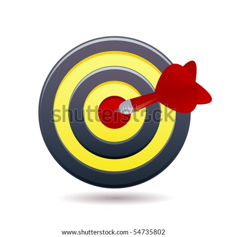 darts icon - stock vector