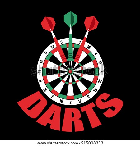 darts label badge logo sporting symbols stock vector royalty free