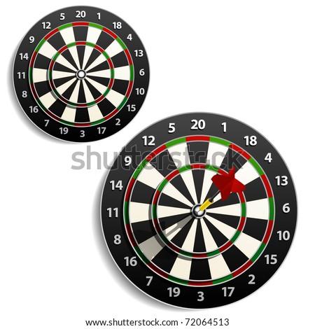 Darts set - stock vector