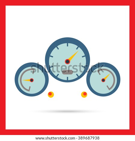 Dashboard icon - stock vector