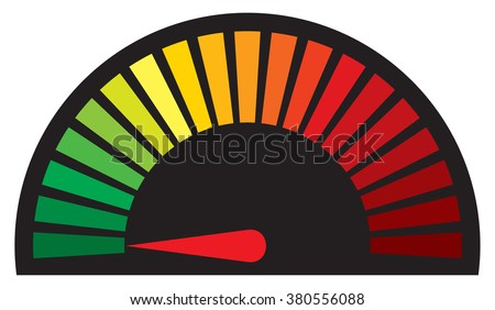 dashboard speedometer icon - stock vector