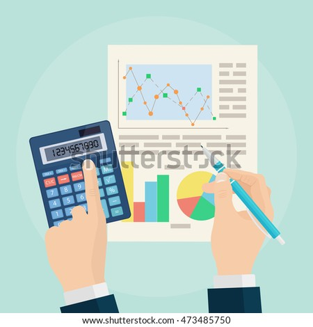 Business Analyst Financial Data Analysis Businessman Stock Vector