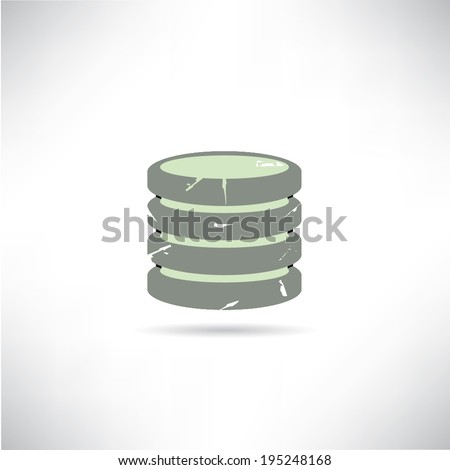 data base - stock vector