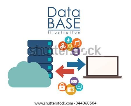 data base design, vector illustration eps10 graphic  - stock vector