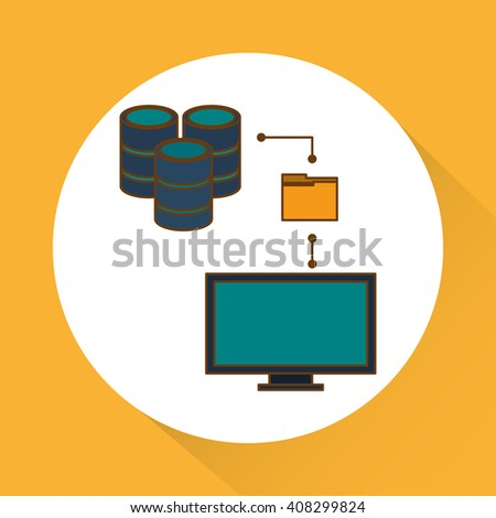 Data center and computer design , vector illustration