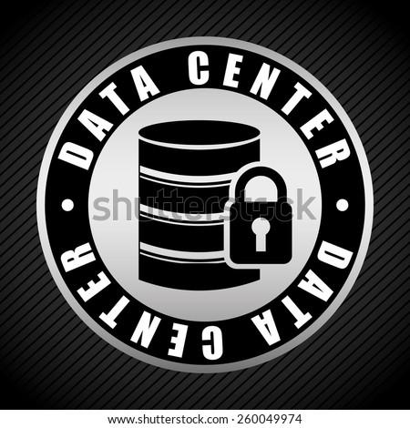 data center design, vector illustration eps10 graphic  - stock vector