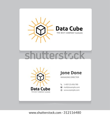 business cards with logo