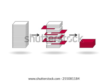 Data mining (dataminig) process and big data analysis (bigdata) issue scheme.  - stock vector