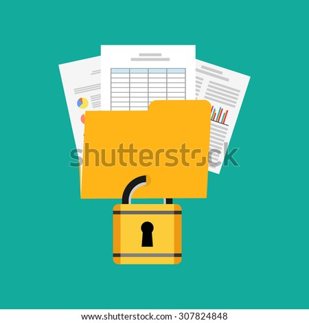 Data privacy concept illustration. - stock vector