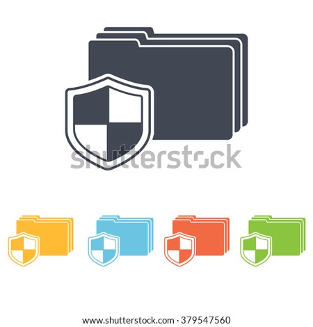 data protection icon - stock vector