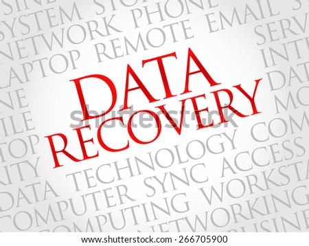 Data Recovery word cloud concept - stock vector