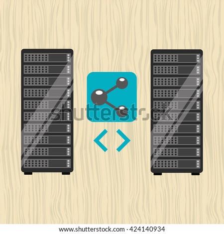 data storage design  - stock vector
