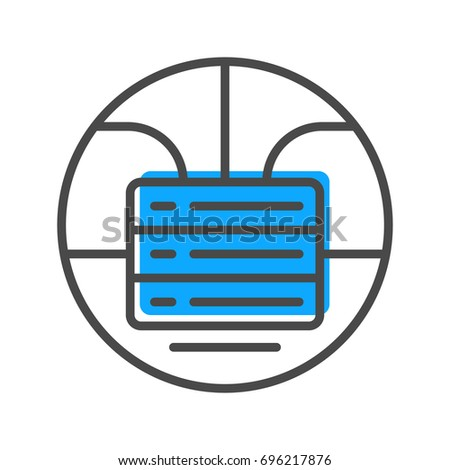 Data Stream Linear Icon Stacked Servers Stock Vector