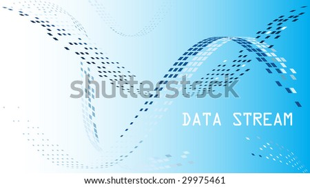 Data stream mosaic background - stock vector