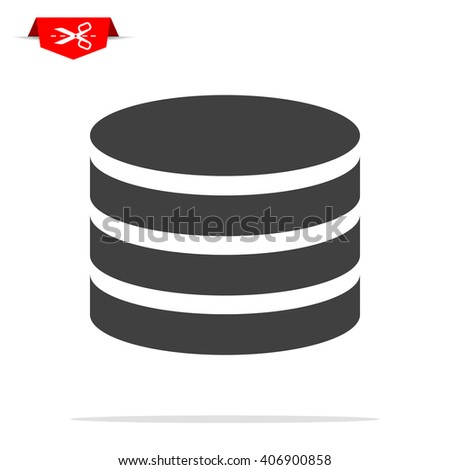 database icon - stock vector