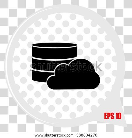 Database Icon / Database Icon Object / Database Icon Picture / Database Icon Image / Database Icon Graphic / Database Icon Art / Database Icon JPG / Database Icon JPEG / Database Icon EPS - stock vector
