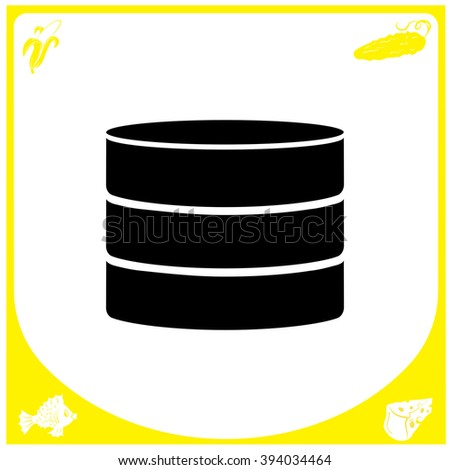 Database icon. Database icon vector. Database icon eps. Database icon flat. Database icon button. Database icon jpg. Database icon eps10. Database icon web. Database icon picture. - stock vector