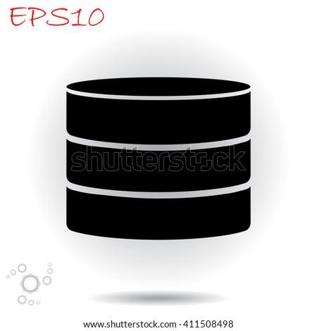 Database icon. Database vector. Database illustration. Database icon logo. Database icon Eps10. Database icon web. Database icon sign. Database icon art. Database icon image. Database icon UI. - stock vector