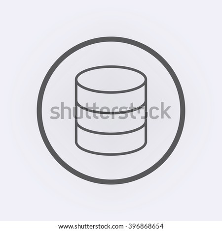 Database icon in circle . Vector illustration - stock vector