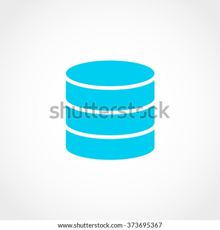 Database Icon Isolated on White Background