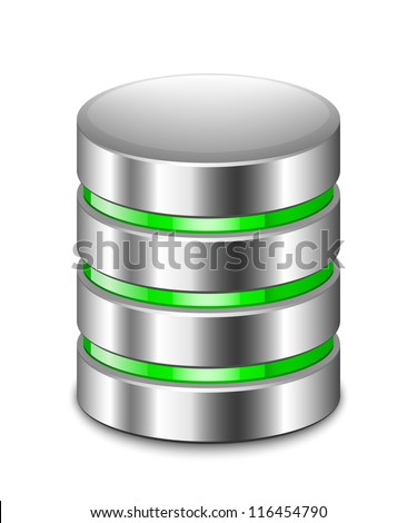 Database Icon. Vector - stock vector