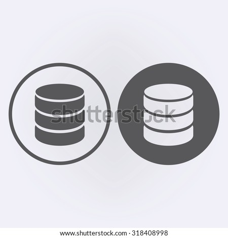 Database icon . Vector illustration - stock vector