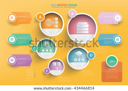 Database info graphic design,vector - stock vector