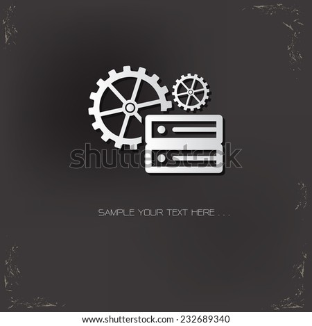 Database management symbol on dark background,vector - stock vector