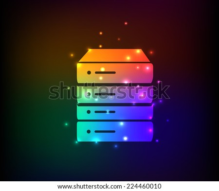 Database symbol,rainbow vector - stock vector