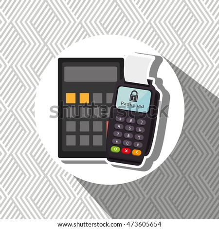 dataphone password money secure vector illustration eps 10