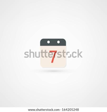 Date icon - stock vector