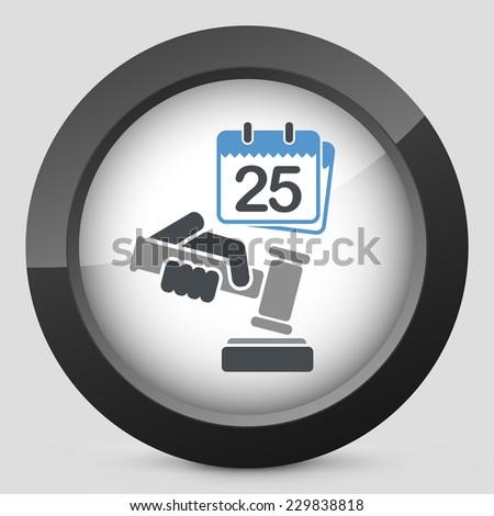 Date of judgment - stock vector