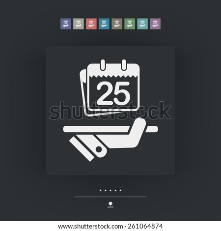 Date planner icon - stock vector