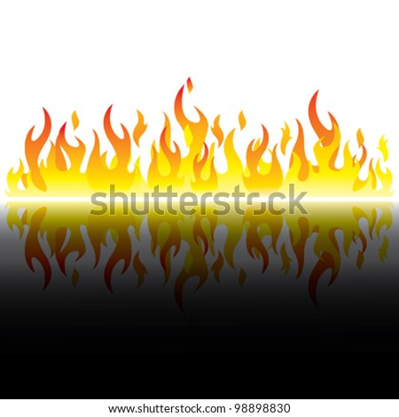 day flame - stock vector